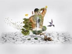 Photo Manipulation: Man and Nature ~ Miland Manapol