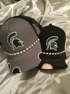 d3b7d0f38dd Spartans Hat Bling Trucker Hats Fairmont by TheApicellaEdge