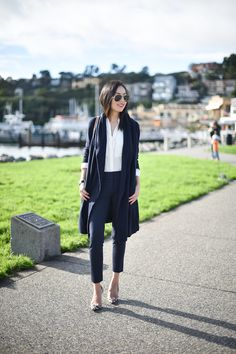 A simple look for work today (and I've really loved wearing/re-wearing these trousers – they have...