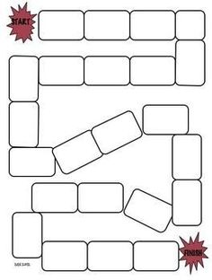 Story Game Board by michelle harper Blank Game Board, Board Game Template, Printable Board Games, Preschool Board Games, Pe Activities, Classroom Games, Homemade Board Games, Online Fun, Diy Games