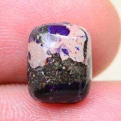 EXCELLENT! PURPLE COPPER TURQUOISE GEMSTONE CABOCHON CAB 10X8X5MM