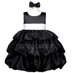 Black Baby Flower Girl Dress with Bubble Layered Skirt - THIS IS PERFECT!!!  $40.00 +10