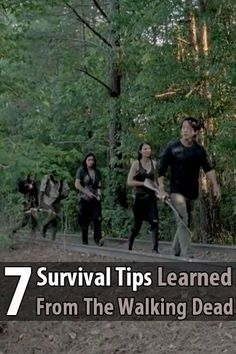 If you watch The Walking Dead carefully, there are many survival tips you can learn.