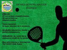 Precios de las clases de Padel para adultos impartidas por Pablo Ruiz