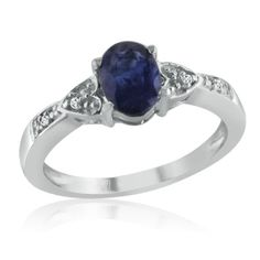 Sterling Silver with Sapphire