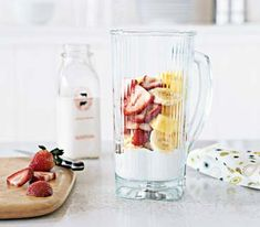 Make a Quick Breakfast Put all your fruit, milk, silken tofu, or yogurt in the blender pitcher and store the pitcher in the refrigerator overnight. (You can even prechop a banana. It will brown, but that will not affect the flavor of the shake.) In the morning, set it on the blender and press the button.