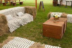 hay bale seating