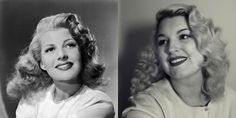 how to do rita hayworth pin curl waves vintage hair tutorial