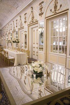 All white wedding ta
