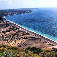 One of the most beautiful beaches in the world ,  Albadrosie Beach in Lattakia Syria