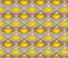lemon_leaf_panel_linen fabric by holli_zollinger on Spoonflower - custom fabric