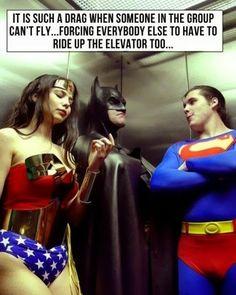 Sometimes he slows us down, you see...  #Batman #WonderWoman #Superman