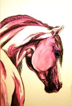 Horse painting on paper from the EQUINE ORIGINALS COLLECTION