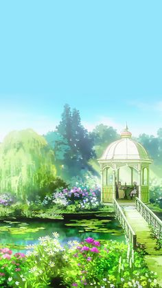 Find images and videos about anime, flowers and wallpaper on We Heart It - the app to get lost in what you love. Fantasy Places, Fantasy Art, Kawaii, Violet Evergarden Wallpaper, Stock Design, Violet Evergreen, Violet Evergarden Anime, Violet Garden, Anime City