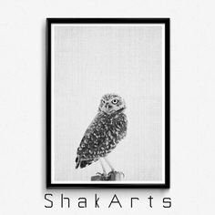 Owl Tree Wall Decal Forest Animals Decal Modern by ShakArts