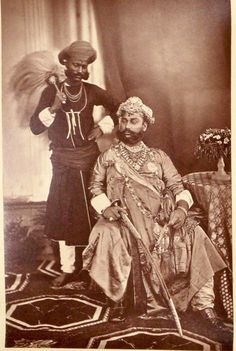 The Maharaja of Indore, photographed by Samuel Bourne, at the Delhi Darbar of 1877