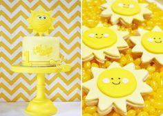 Sunshine Party: Sun cake and sun-shaped sugar cookies.