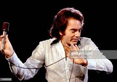 Singer Neil Diamond performs onstage wearing a sequin shirt in circa 1977 in Los Angeles California Neil Diamond Concert, Diamond Picture, Diamond Girl, Sequin Shirt, Still Image, Stock Pictures, Cool Words, Beautiful Men, Sequins
