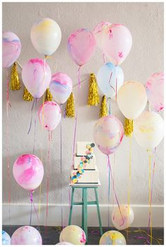 This listing is for a packet of 6 Pretty watercolour balloons.  Add a fun, whimsical and modern touch to your wedding, birthday or special event