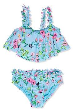 Hula Star 'Fairy Garden' Two-Piece Swimsuit (Toddler Girls & Little Girls) - ShopStyle Swimwear Hula, Retro Fashion, Kids Fashion, Girls Swimming, Girl Closet, Star Girl, Kid Styles, Two Piece Swimsuits, Swagg