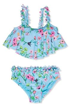 Hula Star 'Fairy Garden' Two-Piece Swimsuit (Toddler Girls & Little Girls)