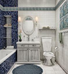 Полный Дизайн Ванной комнаты в стиле прованс – нежная романтика для души и тела (205+ Фото)