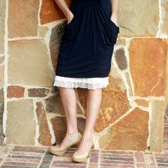 48f2a6603 Skirt Slip Extender Blush Tiered Ruffle by aSlipShop on Etsy, $28.00 Dress  Extender Slip,