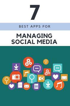 7 Best Apps for Managing Social Media Facebook Marketing, Content Marketing, Social Media Marketing, Digital Marketing, Business Marketing, Affiliate Marketing, Best Social Media Apps, Social Media Content, Business Opportunities