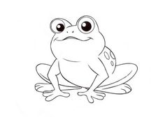 Beautiful Coloring Pages of Frogs Free for All | Animal Vista.