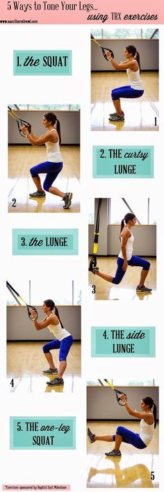 Workout Exercise A Southern Drawl: 5 Ways to Tone Your Legs with TRX - . Trx Training, Mental Training, Weight Training, Suspension Workout, Suspension Training, Trx Suspension, Fitness Po, Health Fitness, Fitness Classes