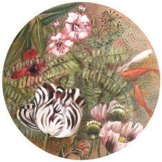Fantasia con pesci rossi 40cm diametro #fishandflowers
