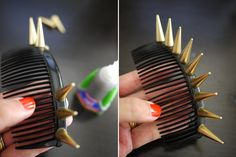 remember in Harry Potter and The Goblet of Fire when Rita Skeeter wore that spiked headband, well I've always wanted one, and here is the DIY!