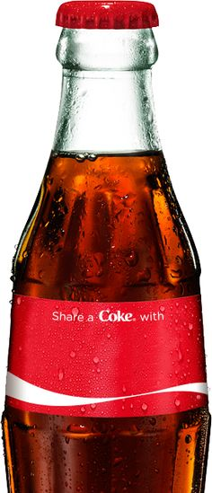 Share a Coke. Coca-Cola Personalized with your name on it.