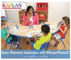 Raise Phonemic Awareness in Students with WhisperPhone® Products! https://www.kaplanco.com/blog/post/2015/07/24/Raise-Phonemic-Awareness-with-WhisperPhone174;-Products!.aspx?utm_content=buffer7c98d&utm_medium=social&utm_source=pinterest.com&utm_campaign=buffer #literacy