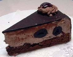 Ludlab - Hungarian chocolate + cherry mousse torte.