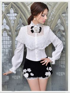 Morpheus Boutique - White Lace Chiffon Long Sleeve Celebrity Bow Shirt, CA$71.78 (http://www.morpheusboutique.com/white-lace-chiffon-long-sleeve-celebrity-bow-shirt/)