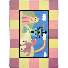 Joy Carpets Kid Essentials - Active Play & Juvenile Lil' Princess Multi Area Rug | Carpetmart.com