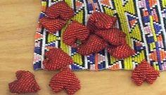 Beadwork hearts by Kidzpositive George