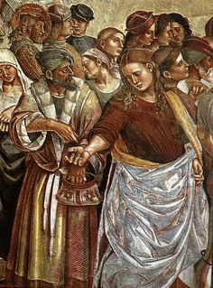Luca signorelli, cappella di san brizio, predica e punizione dell'anticristo  - Cappella di San Brizio -