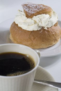 Swedish Semla and coffee