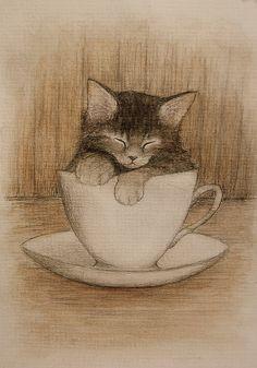coffee break by ~moussee moussee.deviantart.com on @DeviantArt♥♥