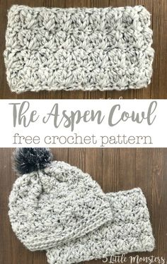 Crochet Designs Crochet the Aspen Cowl with super bulky yarn for a soft and squishy cowl that is quick to make. - Crochet the Aspen Cowl with super bulky yarn for a soft and squishy cowl that is quick to make. Crochet Scarves, Crochet Yarn, Knitting Yarn, Easy Crochet, Free Crochet, Irish Crochet, Mandala Crochet, Crochet Afghans, Crochet Blankets