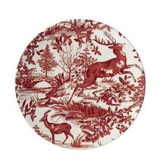 Pottery Barn Alpine Toile Salad Plate (160 BRL) ❤ liked on Polyvore featuring home  sc 1 st  Pinterest & Maison Versailles Castleware Melamine Round Green Salad Plate ($9 ...