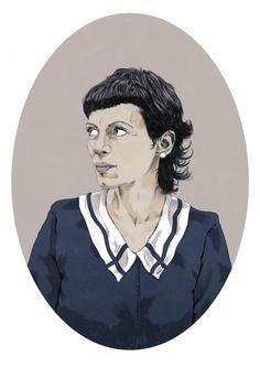 Portrait illustration by Pedro Semeano #illustration #portrait #woman #drawing