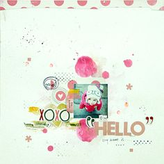 #papercraft #scrapbook #layout  oh hello my name is ... by mumkaa at @Studio_Calico