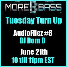 "Check out ""MoreBass 6/21/16 #8"" by DJ Dom D on Mixcloud"