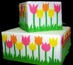Tulips  on Cake Central