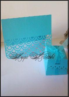 Сватбена покана цвят тюркоаз 1057
