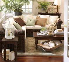 PB Found Dough Bowls - Oblong | Pottery Barn~ I want this living room