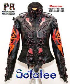 jacket of leather futuristic style 0004